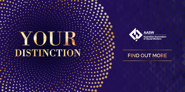 Your Distinction - gold lettering purple background