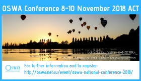 OSWA Conference 8-10 November 2018 ACT