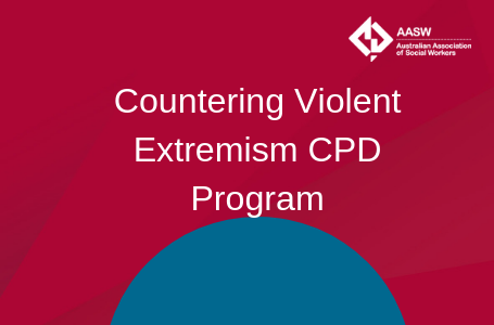 Counter Violet Extremism CPD Program - red with teal accent