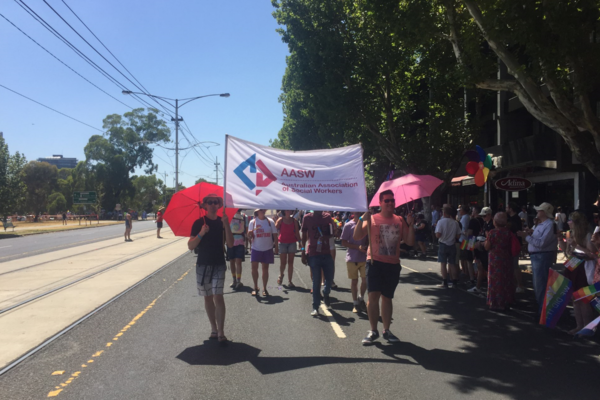 AASW marches in Midsumma march in February 2019
