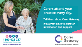 Carers attend your practice everyday