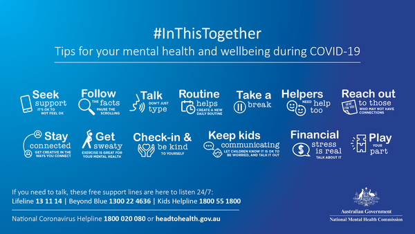 #InThisTogether: Tips for mental health and wellbeing