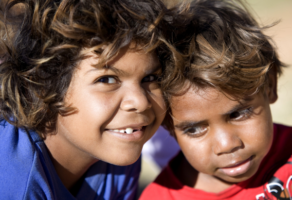 Picture of two indigenous children